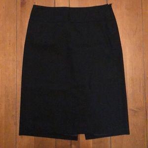 Banana Republic size 0 stretch black pencil skirt